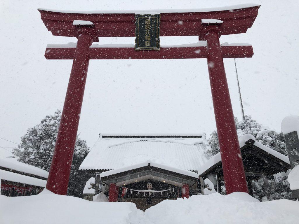 越中護国八幡宮 - 雪景色02
